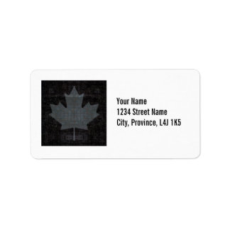 Canada maple leaf flag gray and black design