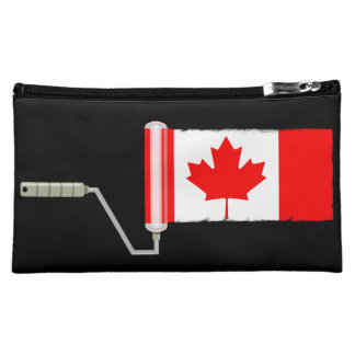 Canada Maple Leaf Flag Paint Roller Makeup Bags