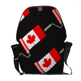 Canada Maple Leaf Flag Paint Roller Messenger Bags