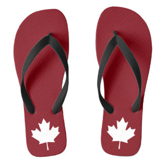 Canada Maple Leaf Flip Flops