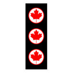 Canada Maple Leaf Inside of a Ring Boomark Business Card Templates