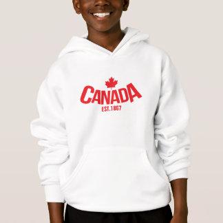 Canada maple leaf kids hooded jumper
