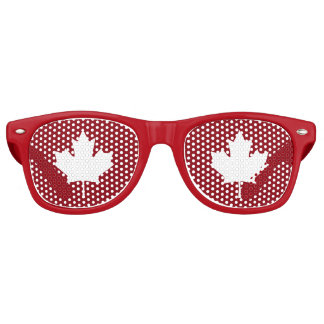 Canada Maple Leaf Party Shades