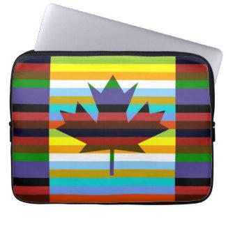 Canada Maple Leaf Pop Art Laptop Sleeve