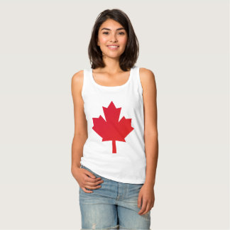 Canada Maple Leaf Red Tank Top