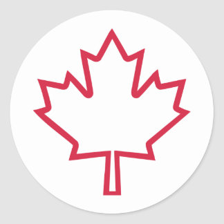 Canada maple leaf round sticker