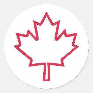 Canada maple leaf round sticker