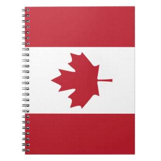 Canada Maple Leaf Spiral Notebook