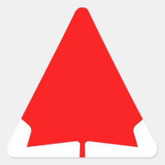 Canada - Maple Leaf Triangle Sticker
