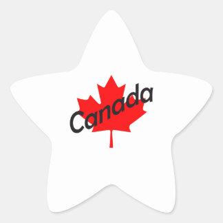 CANADA MAPLE LEAF STAR STICKER