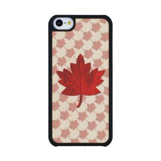 Canada-Maple Leaf Carved® Maple iPhone 5C Slim Case
