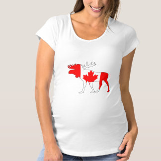 Canada Moose Maternity T-Shirt