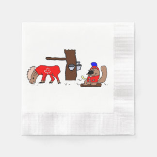 Canada Moose Syrup Beaver Paper Napkins
