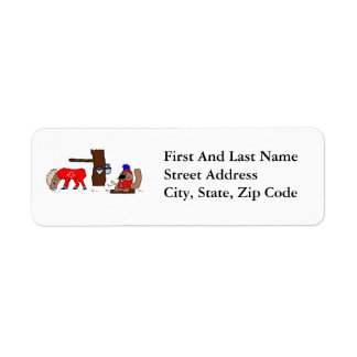 Canada Moose Syrup Beaver Return Address Label