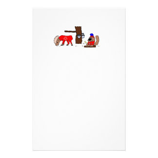 Canada Moose Syrup Beaver Stationery Paper