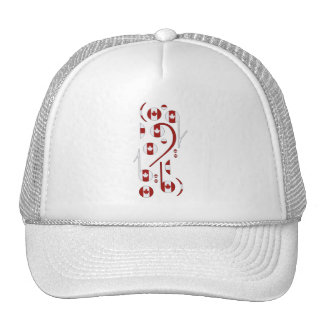 Canada Music Notes Hat