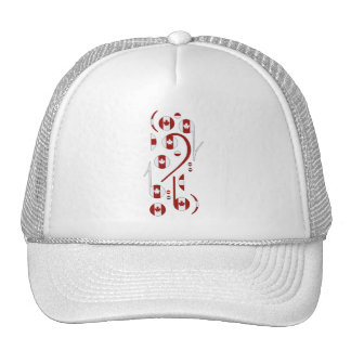 Canada Music Notes Trucker Hat