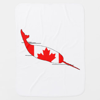 Canada Narwhal Swaddle Blanket
