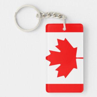 Canada National World Flag Double-Sided Rectangular Acrylic Keychain
