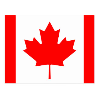 Canada National World Flag Postcard
