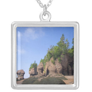 Canada, New Brunswick, Hopewell Cape, Bay of Square Pendant Necklace