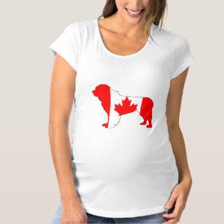 Canada Newfoundland Dog Maternity T-Shirt