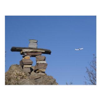 Canada, Newfoundland, St. John's. Inukshuk (to Postcard