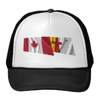 Canada & Nunavut Waving Flags Trucker Hat