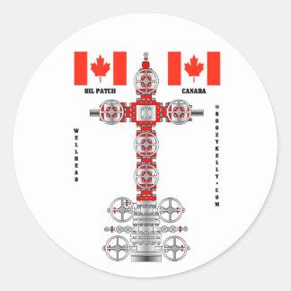 Canada Oil Patch, Oil Field Sticker