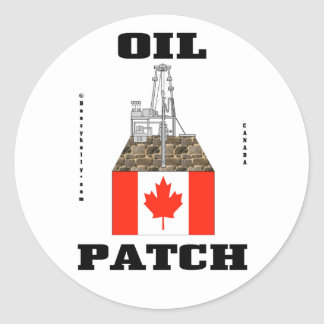 Canada Oil Patch,Sticker,Oil,Gas,Oil Field Gift Classic Round Sticker