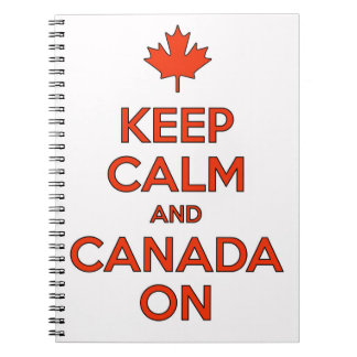 Canada On & Keep Clam Notebook