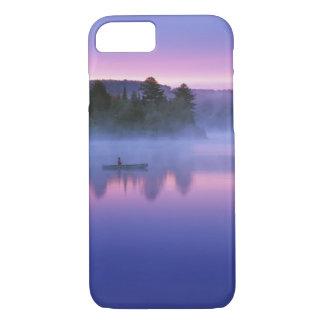 Canada, Ontario, Algonguin Park, Canoeist on iPhone 7 Case