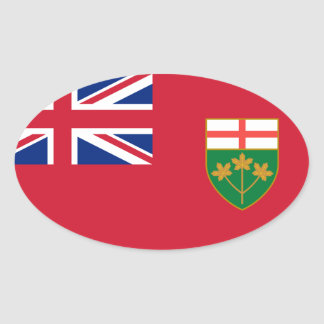 Canada Ontario* Flag Euro-style Oval Oval Sticker