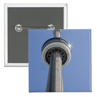 Canada, Ontario, Toronto. Top of CN Tower with 2 Inch Square Button