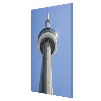 Canada, Ontario, Toronto. Top of CN Tower with Canvas Prints