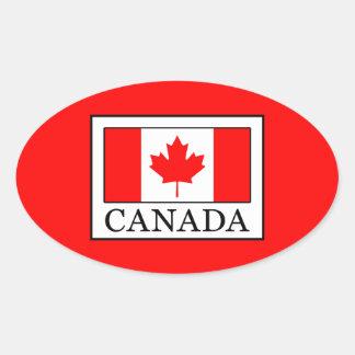 Canada Oval Sticker