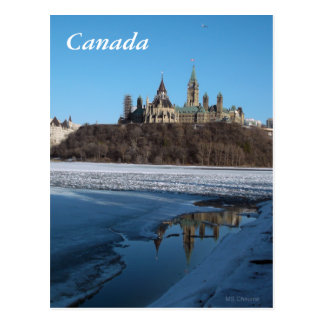 Canada Parliament Buildings View from Ottawa River Postcard