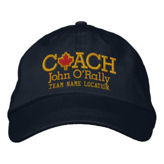 Canada Personalize Coach Hat Name Team Embroidered Baseball Cap
