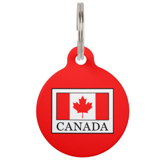 Canada Pet Name Tag