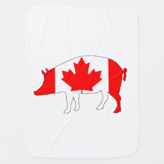 Canada Pig Baby Blankets