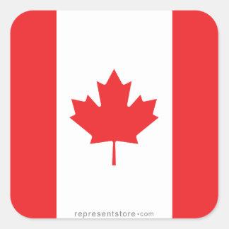 Canada Plain Flag Stickers