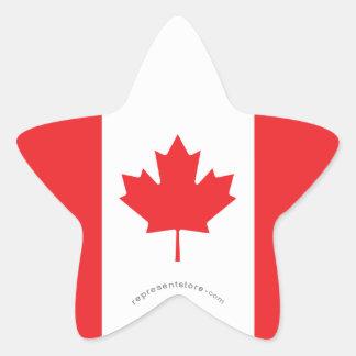 Canada Plain Flag Star Sticker