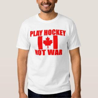 CANADA-PLAY HOCKEY NOT WAR TEE SHIRT