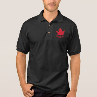 Canada Polo Shirt Men's Souvenir Canada Golf Shirt