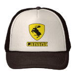 Canada - prancing moose shield crest coat of arms trucker hat