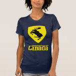 Canada - prancing moose shield crest coat of arms shirt