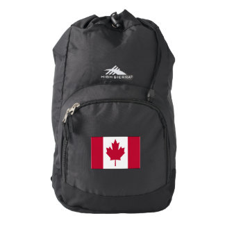 Canada Pride Flag High Sierra Backpack, Black