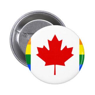 Canada Pride Rainbow Flag 2 Inch Round Button