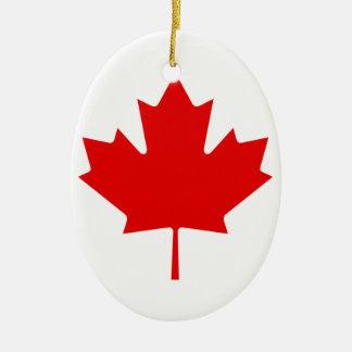 Canada Pride Rainbow Flag Ceramic Oval Ornament