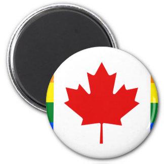 Canada Pride Rainbow Flag Magnet
